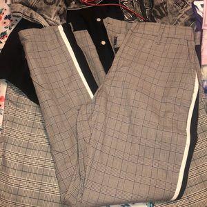Men's checker pants